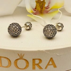 Pandora oval drops earrings